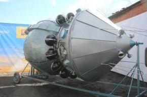 Полномасштабный макет головной части легендарного космического корабля «Восток-1»  Фото Анны Неволиной