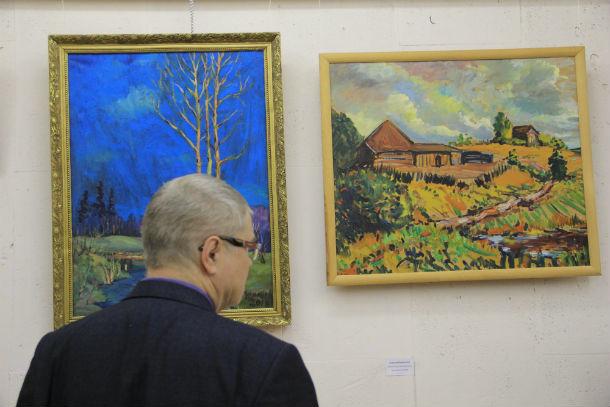 Посетители выставки по достоинству оценили картины художников  Фото Анны Неволиной
