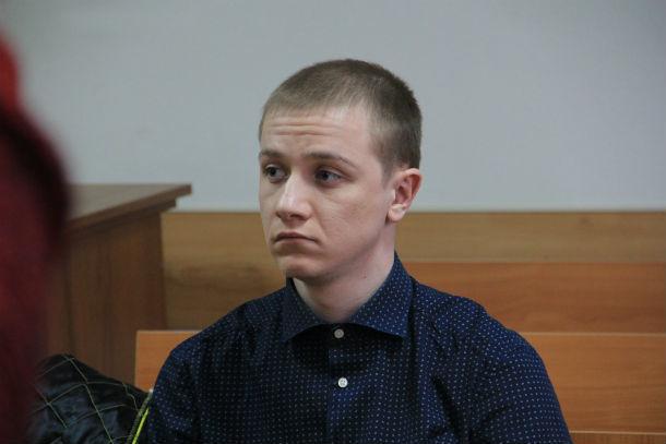 Максим Бобрикович в зале суда  Фото из архива редакции