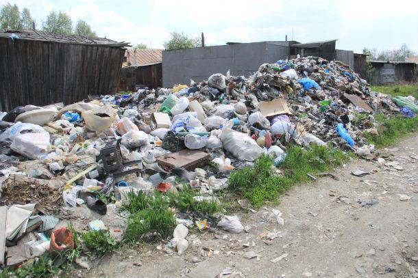 Местные жители утверждают, что виноваты в образовавшейся помойке не они, поэтому за свой счет мусор убирать не собираются  Фото Анны Неволиной