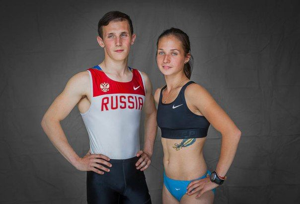 Легкоатлеты Егор и Наталья Севрюгины