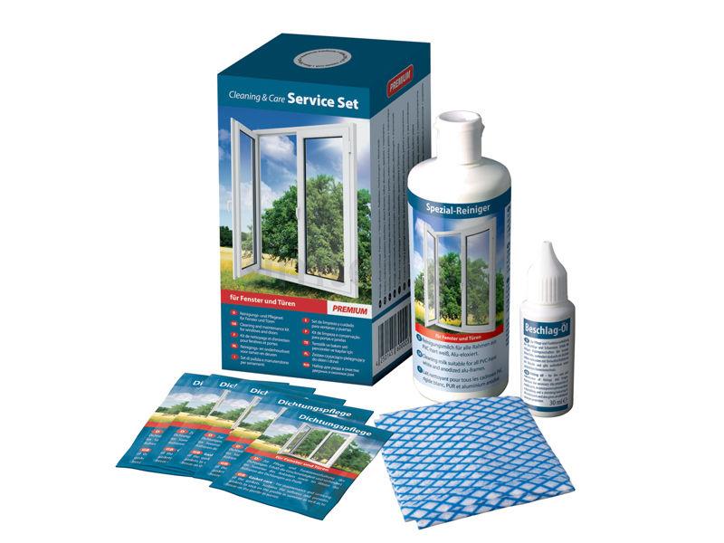 Уход за пластиковыми окнами сильно упрощают специальные наборы, в которые входит: молочко для профиля, масло для смазывания фурнитуры, а также крем для уплотнителя.