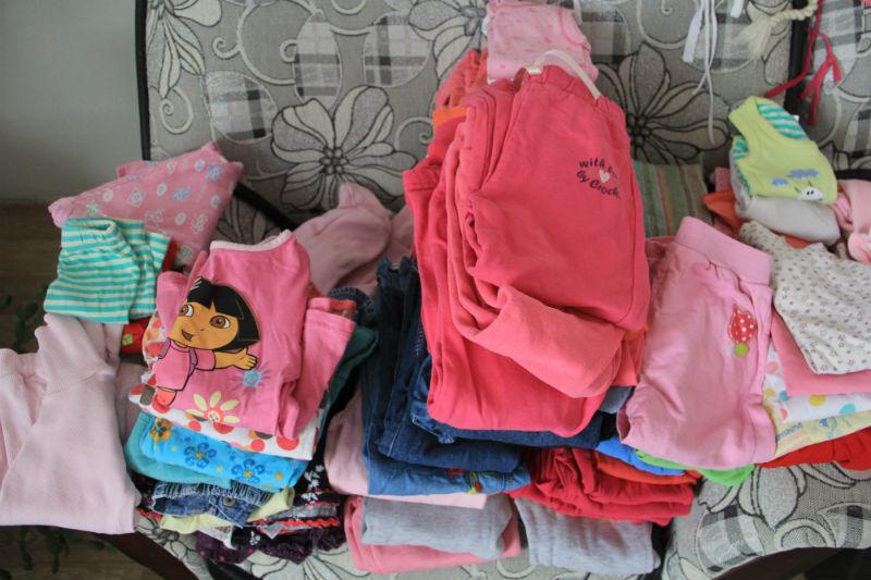 Вещи, которые удалось собрать во время благотворительной акции