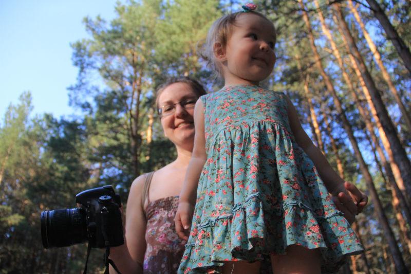 Анастасия Нургалиева с дочкой Полиной Фото Анны Неволиной