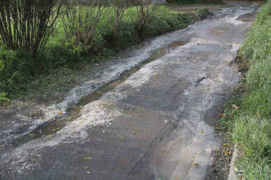 Сегодня тротуар выглядит вот так. Фото Анны Неволиной