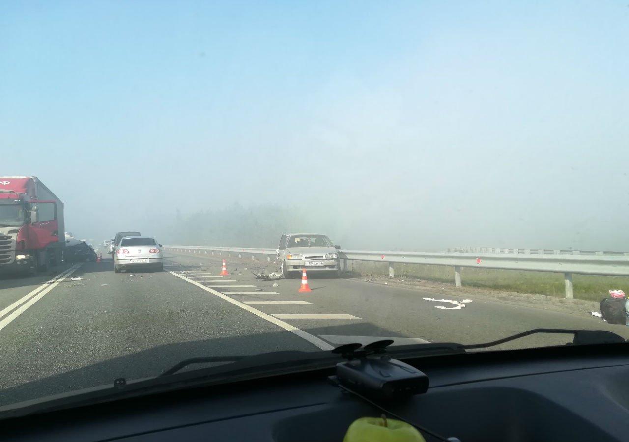ДТП из-за дыма